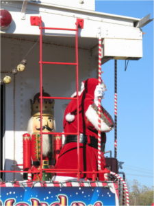 Santa pays a visit to Wylie, TX, in 2012 on the Holiday Express. - Photo courtesy John Morris